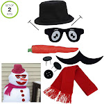 Evelots My Very Own Snowman & Snow Woman Kit, New & Improved 2-in-1
