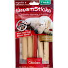 DreamBone Dreamsticks Vegetable and Chicken Flavored Rawhide Chews - 5 count