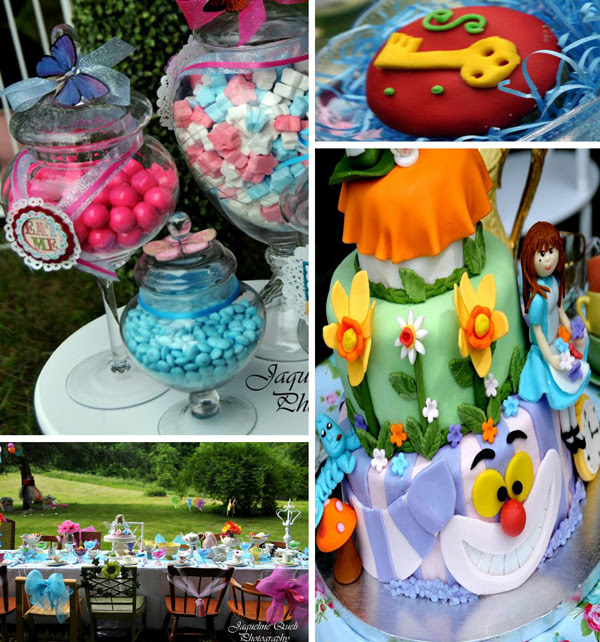 Alice In Wonderland Party With Lots of Ideas via Kara's Party Ideas   Kara'sPartyIdeas.com #alice #in #wonderland #supplies #ideas