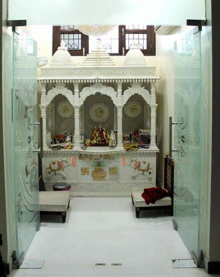 glass pooja room designs pictures models glass mandir