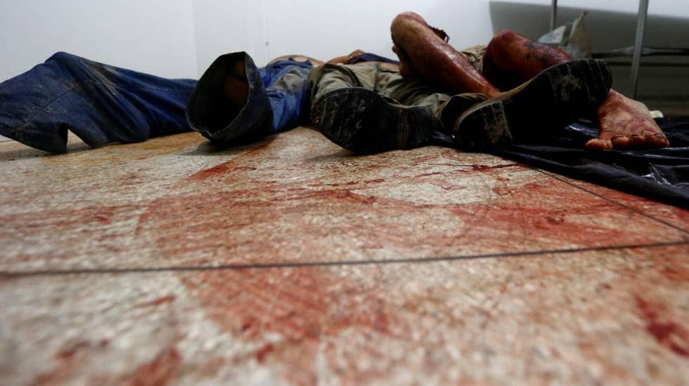 Los cadáveres, amontonados en una tanatorio de Pará.