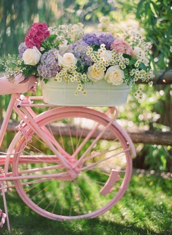 Roze Fiets en Bloemen ❤❤❤ Pink Bike and Flowers