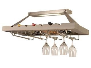 Checkolite P1011 71 Decor 1 Light Kitchen Wine Rack Brushed Nickel