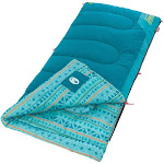Coleman 2000025288 60 Inch x 26 Inch ThermoTech Kids 50 Sleeping Bag, Teal