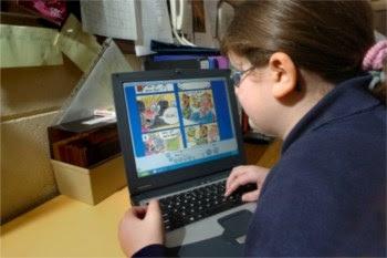 Sistema informático permite aos alunos ler melhor os textos porque podem aumentá-los