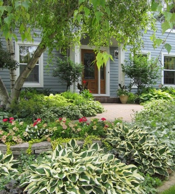 Landscaping Ideas For Front Yard Of Semi Detached : Landscaping front yard ideas with hostas