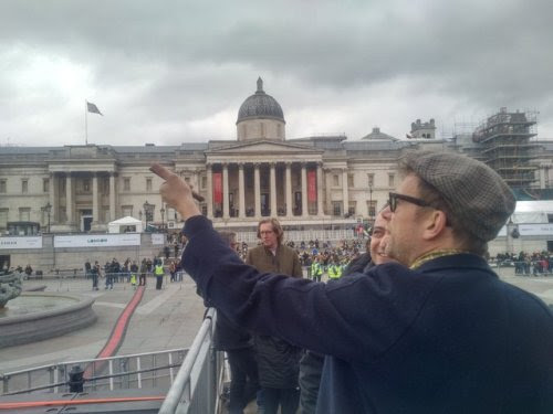 Damon at Trafalgar Sq. He is playing today with the Orchestra of...