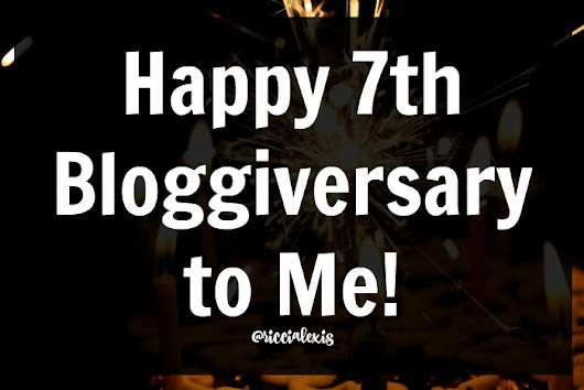 Happy 7th Bloggiversary to Me + a GIVEAWAY