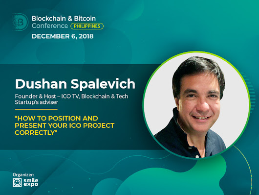 Successful Presentation of ICO Project: Explanation from Dushan Spalevich, ICO TV Founder & Host | Blockchain Conference Philippines