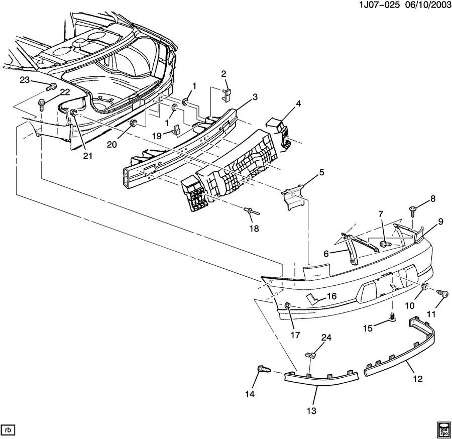 2005 Chevy Cavalier Parts Diagram