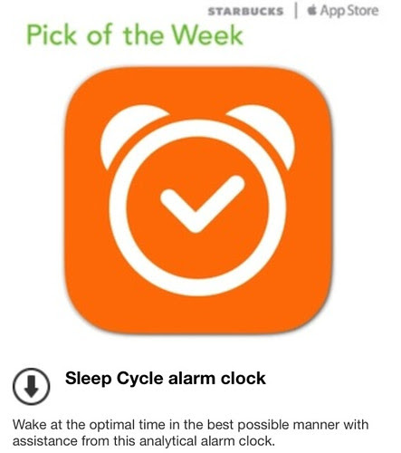 Starbucks Pick of the Week - Sleep Cycle alarm clock