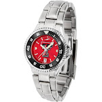 Texas Tech Red Raiders Competitor Ladies Steel AnoChrome Color Bezel Watch
