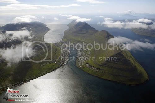 Faroe Islands, Klaksvik, second largest town located on island of Bordoy
