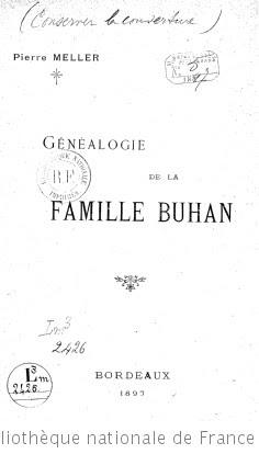 Généalogie de la famille Buhan