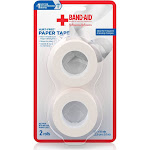 Band-Aid Brand of First Aid Products Hurt-Free Paper Tape, 1 inch by 10 Yards, 2