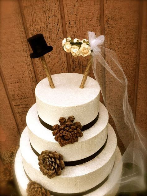 Country Wedding Cake Toppers   Rustic wedding cake topper