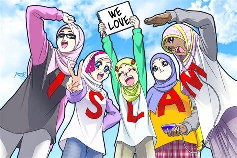 gambar gambar kartun islami muslimah berjilbab terbaru