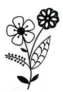 Fresh Flowers BLACK - Click Image to Close