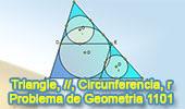 Problema de Geometría 1101 (English ESL): Triangulo, Rectas Paralelas, Circunferencia Inscrita, Inradio, Semejanza.