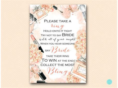 Fashion Beauty Bridal Shower Games Package   Magical Printable