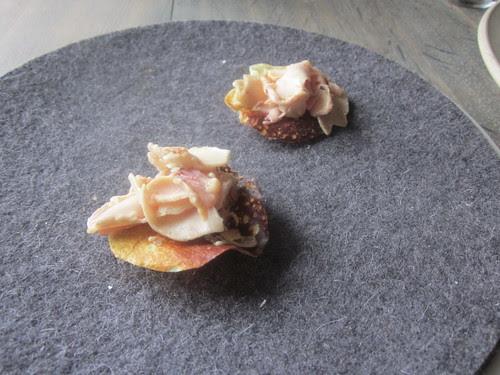 Noma - Copenhagen - August 2012 - Caramelized Milk and Shaved Cod Liver