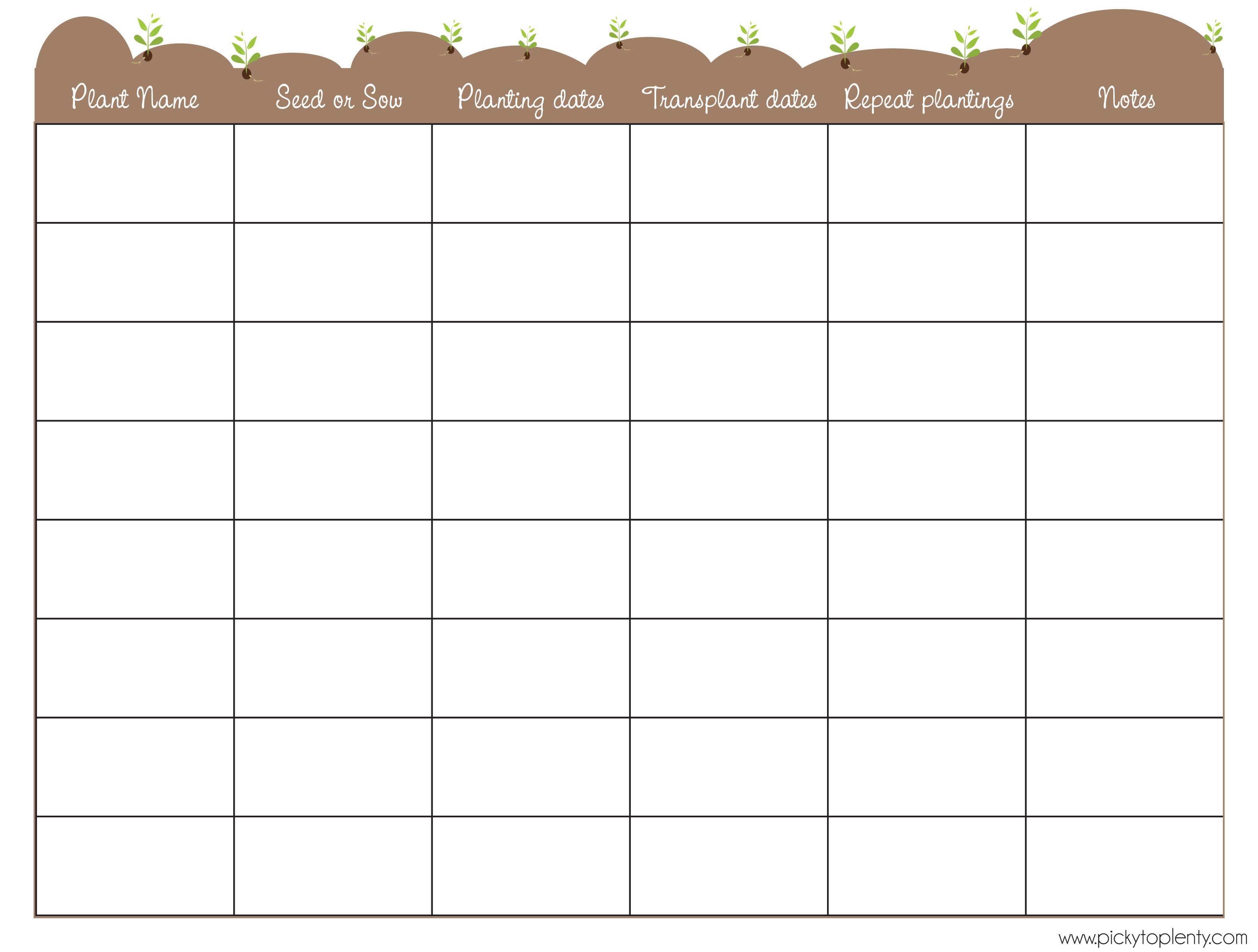 garden planner template click on the thumbnail to download my seed planner template garden planning calendar image collections home fixtures rYRUwD