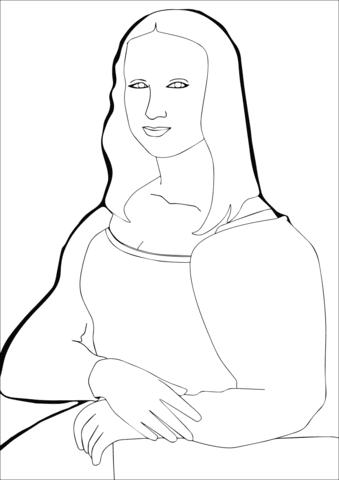 Coloriage La Joconde De Léonard De Vinci Coloriages à Imprimer