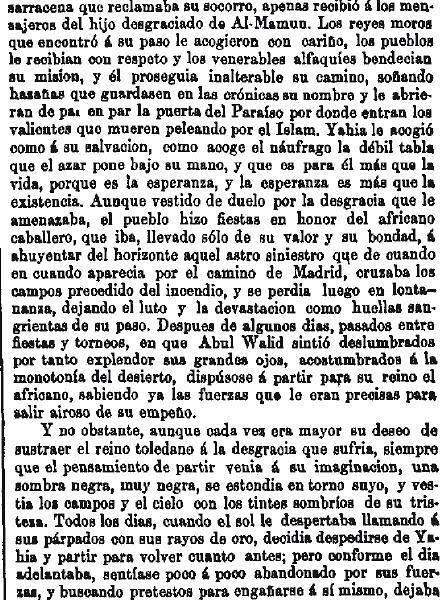 Leyenda de La Peña del Moro publicada en La Amérca por Eugenio de Olavarria y Huarte. Página 7