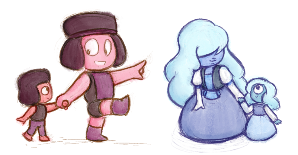 Rubyling and Sapphysis! (couldn't decide which version I liked better)