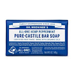 Dr. Bronners All-One Hemp Peppermint Pure-Castile Bar Soap, 5 Oz