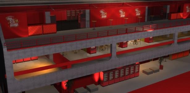 Croqui do Camarote Brahma 2012: espaço deverá receber 800 convidados por noite