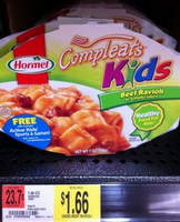 Hormel Kids compleats walmart photo Hormel Compleats Kids Meals $1 off Coupon Makes it 66¢ at Walmart