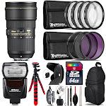 Nikon AF-S 24-70mm f/2.8E VR + Nikon SB-700 AF Speedlight & More - 64GB Kit