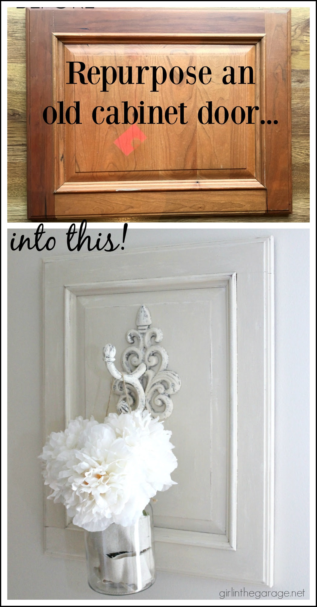 Repurposed Cabinet Door to Chic Wall Decor - Girl in the ...