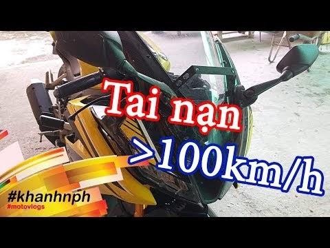 Xe Yamaha R15 v3 bị tai nạn trên Quốc lộ 1A