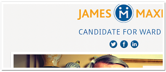 James Maxim For Ward 11 – Campaign Web Site | Ottawa & Calgary Web Design + WordPress + Drupal + Social Media + iPhone Apps | Armadillo Studios Inc.