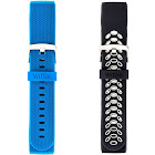 WITHit Replacement Band for Use with Fitbit Charge 3-2 Pack, Replacement Wristband Compatible with Fitbit Charge 3-2 Pack (Black, Women's, Size: One