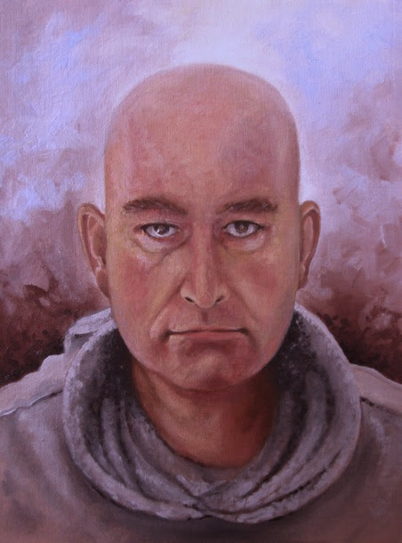 Selfportrait in oils by kevin gough
