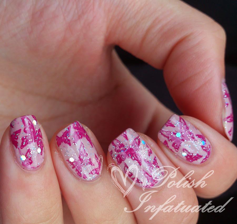 pink glittery butterflies3