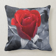 One Red Rose throwpillow