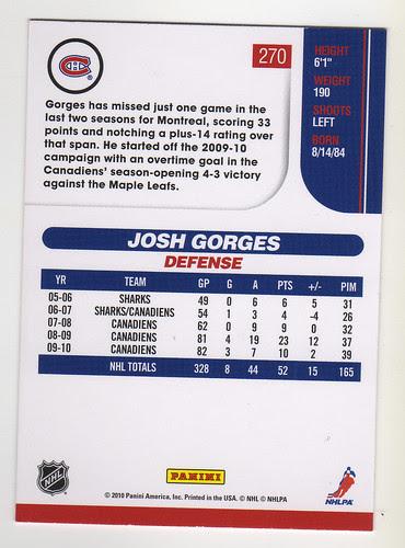 Score - Josh Gorges back
