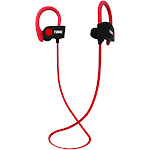 Naxa NE-961 RED Bluetooth Wireless Sport Earbuds with Ear Hook Red
