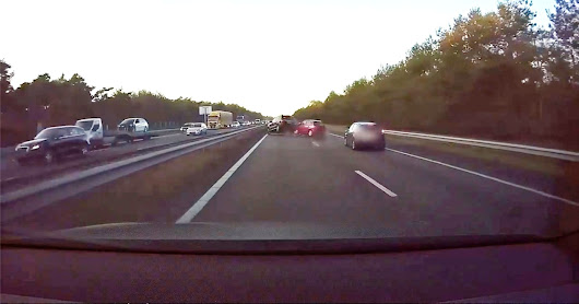Tesla Autopilot avoids a crash before it happens