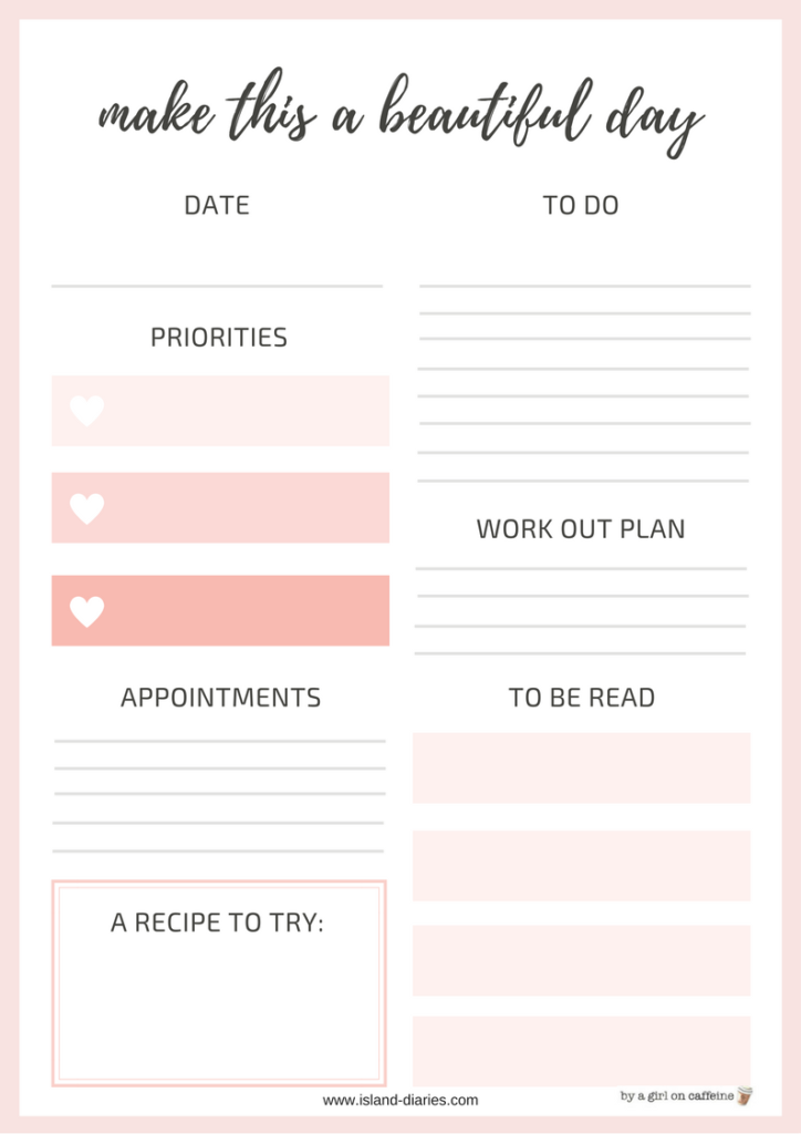 Daily Planner Island Diaries 724x1024
