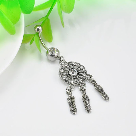 Dream Catcher Belly Button Ring - Fashionable Body Jewelry for Women – Rebel Style Shop