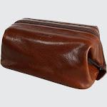 Italian Vachetta Calfskin Travel Dopp Kit - Brown one