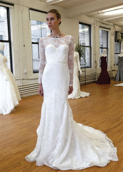 Zac Posen Vintage Long Sleeve Mermaid Wedding Gown