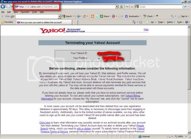 how to delete yahoo email account yahooanswers
