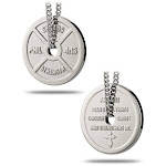 Women's Stainless Steel Weight Plate Necklace-Phil 4:13