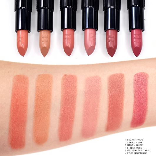 Givenchy Rouge Interdit Lipstick Swatches - Escentual's Beauty Buzz